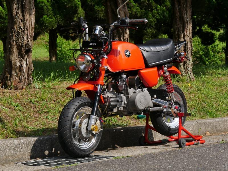 ホンダ ゴリラ改カブ90エンジン JUN105cc+セル付+5速+2次クラッチ 中古
