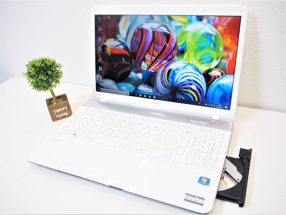 美品 白【最新Windows10&Office2013☆爆速SSD仕様】NEC 第2世代Core i3(Sandy Bridge)☆