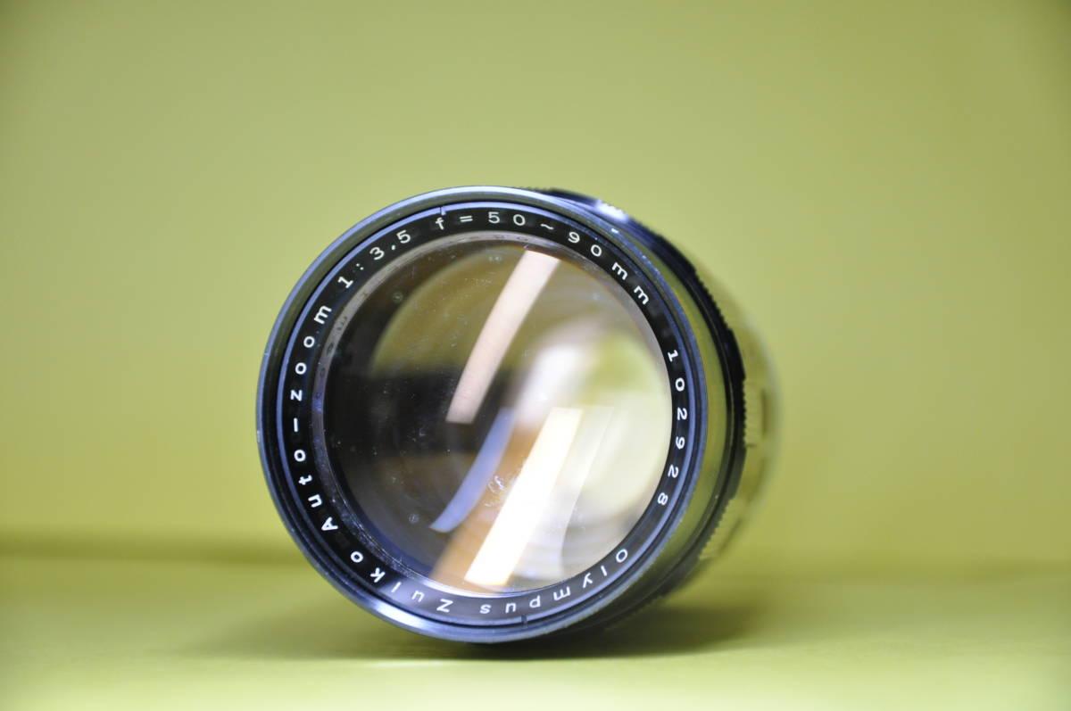 OLYMPUS PEN F PEN F オリンパス ペン 花文字 華文字 F.Zuiko Auto-s 38mm f1.8 , Auto-zoom 50-90mm f3.5 底ケース付き _画像8