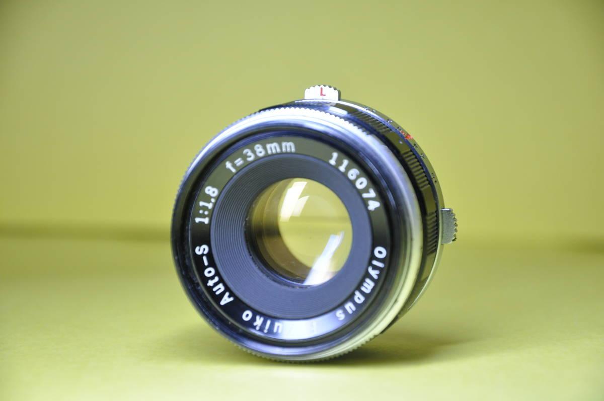 OLYMPUS PEN F PEN F オリンパス ペン 花文字 華文字 F.Zuiko Auto-s 38mm f1.8 , Auto-zoom 50-90mm f3.5 底ケース付き _画像6