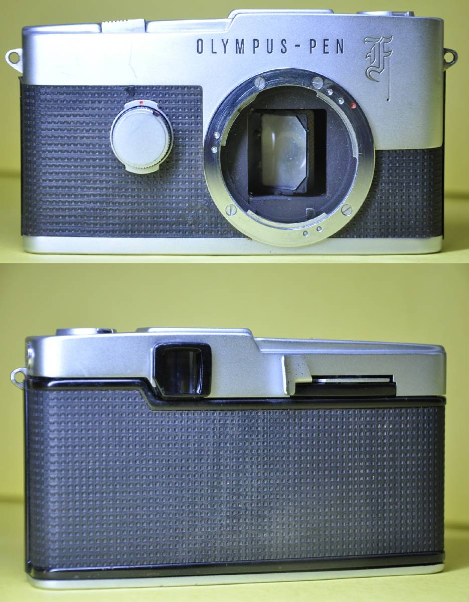 OLYMPUS PEN F PEN F オリンパス ペン 花文字 華文字 F.Zuiko Auto-s 38mm f1.8 , Auto-zoom 50-90mm f3.5 底ケース付き _画像3