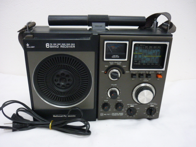 ◆◇昭和レトロ National Panasonic 6BAND RECEIVER FM.MW.SW1~4 アンティーク◇◆