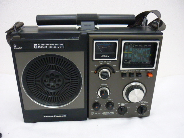 ◆◇昭和レトロ National Panasonic 6BAND RECEIVER FM.MW.SW1~4 アンティーク◇◆_画像2