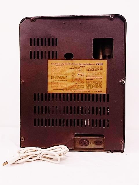 me022 ヴィンテージ Cossor イギリス製 真空管ラジオ ジャンク品_画像10