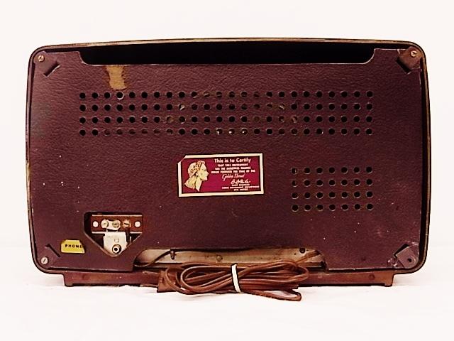 me020 昭和レトロ RCA Victor 真空管ラジオ 稼働品_画像8