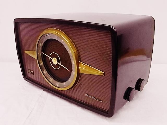 me020 昭和レトロ RCA Victor 真空管ラジオ 稼働品_画像2
