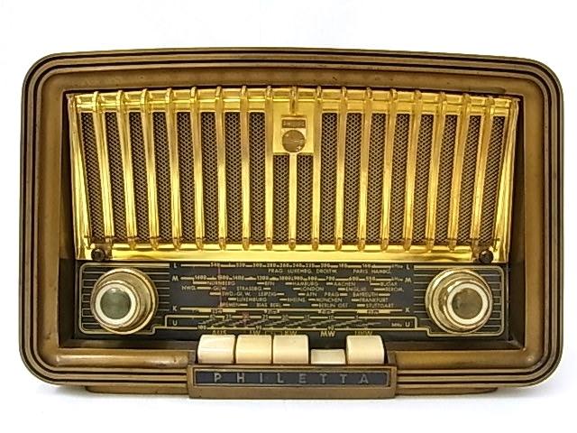 g1880 ヴィンテージ PHILIPS OHILETTA TYPE-BD263U No.W90459A 真空管ラジオ 稼動品