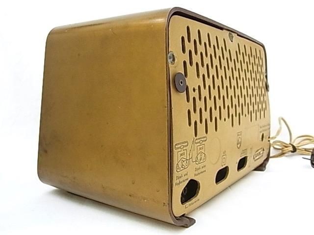 g1880 ヴィンテージ PHILIPS OHILETTA TYPE-BD263U No.W90459A 真空管ラジオ 稼動品_画像3