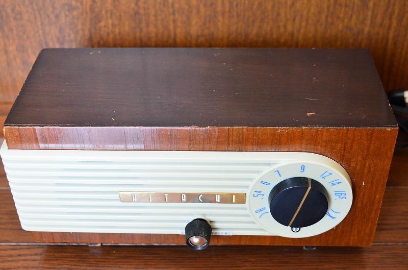 日立 トランスレス真空管ラジオ H-202 フェライトバー式で高感度です。_画像2