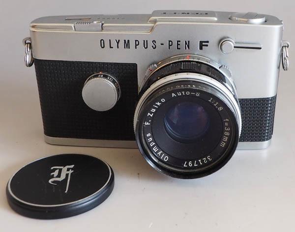 503■OLYMPUS PEN-FT オリンパス F.Zuiko Auto-S 1:1.8 f=38mmレンズ付