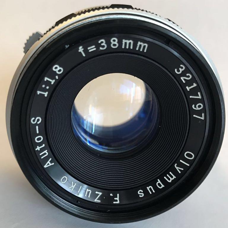 503■OLYMPUS PEN-FT オリンパス F.Zuiko Auto-S 1:1.8 f=38mmレンズ付_画像3