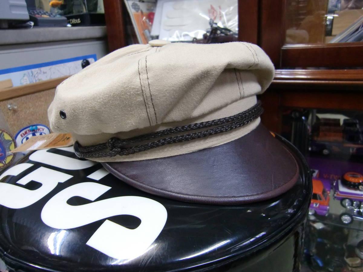 81212 The Cyclery キャップ 58サイズ レザー&ベージュ(ハーレー60S