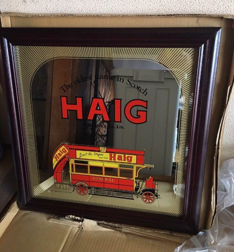 ● お宝発見 新品 HAIG ヘイグ パブミラー デッドストック アンティーク ノベルティ 非売品 ●