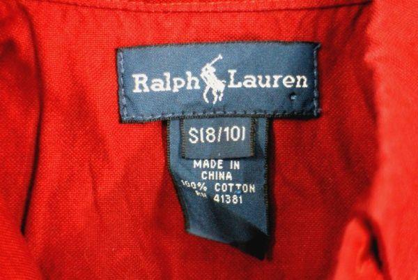 【Lady's 古着 Ralph Lauren 長袖 ボタンダウン オックスフォード シャツ 赤 S】ラルフローレン BDシャツ カジュアル_画像5