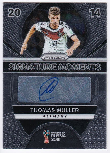 Thomas Muller 2018 Panini Prizm World Cup Soccer Signature Moments Auto SP 直筆サインカード