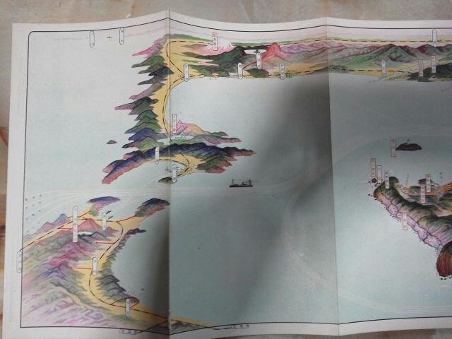 昭和5年 金子常光画 鳥瞰図[室蘭図絵]市街図/日本製鉄所室蘭工場.輪西工場_画像3