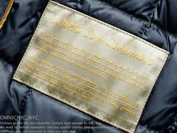 ■新品54万【MOORER】ムーレー紳士の頂点!贅沢極上ロロピアーナ100%カシミア艶感撥水ダウンコート48/MADE IN ITALY/日本サイズM相当/C450_画像6