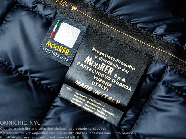 ■新品54万【MOORER】ムーレー紳士の頂点!贅沢極上ロロピアーナ100%カシミア艶感撥水ダウンコート48/MADE IN ITALY/日本サイズM相当/C450_画像9