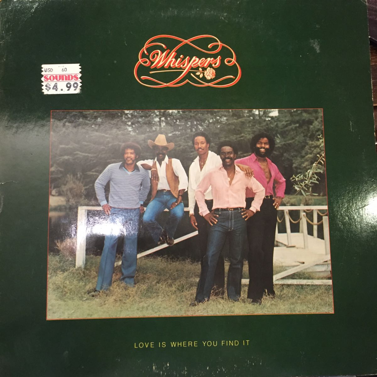 ◆WISPERS 「Love is Where You Find It」中古レコード_画像1