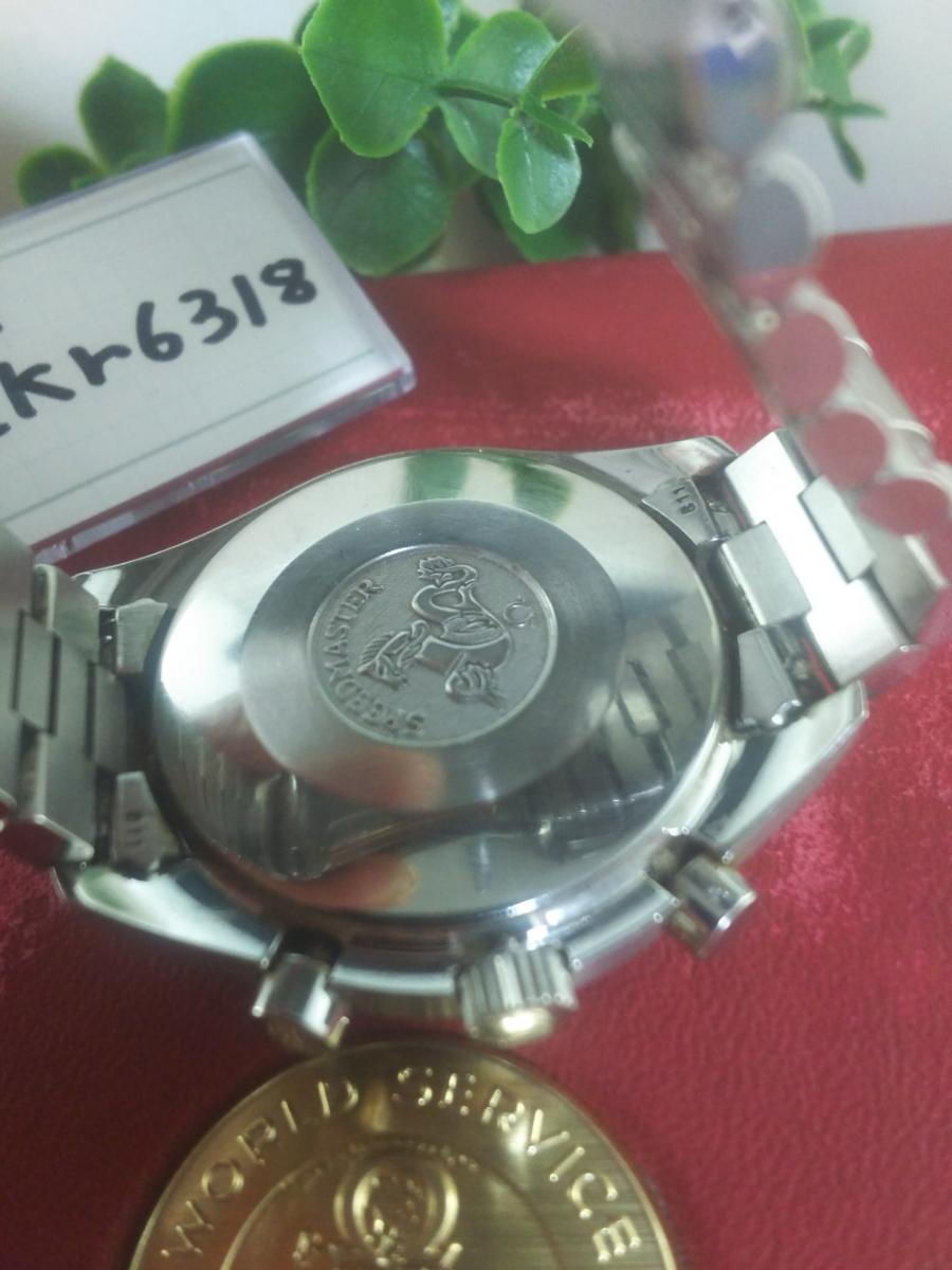 1円~オメガ/スピードマスターシューマッハ3510.61クロノグラフ自動巻き//メンズ赤文字盤【訳あり】_画像5
