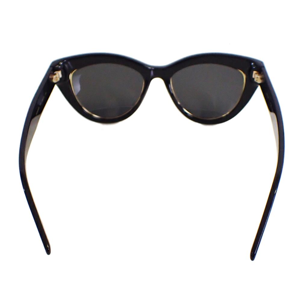 【新品未使用】MCM サングラス 眼鏡 MCM63S キャッツアイ ロゴ デザイン フォックス型 セルフフレーム アイウェア ブラック I0576_画像7