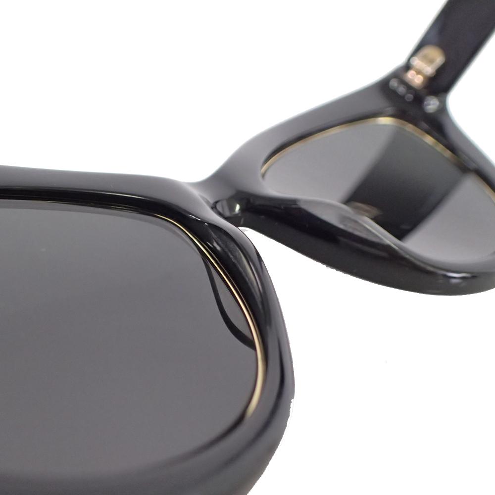 【新品未使用】MCM サングラス 眼鏡 MCM63S キャッツアイ ロゴ デザイン フォックス型 セルフフレーム アイウェア ブラック I0576_画像9