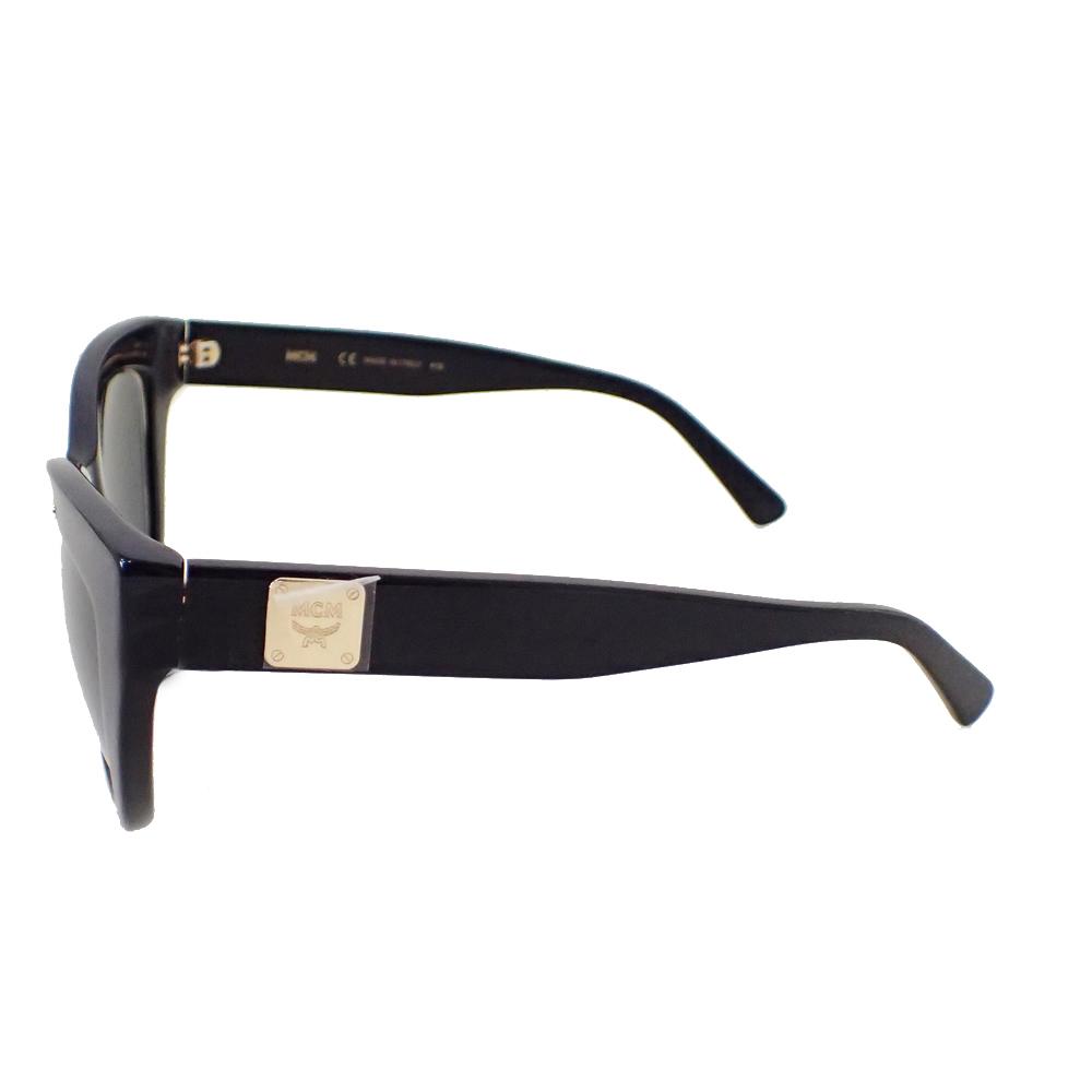 【新品未使用】MCM サングラス 眼鏡 MCM63S キャッツアイ ロゴ デザイン フォックス型 セルフフレーム アイウェア ブラック I0576_画像5