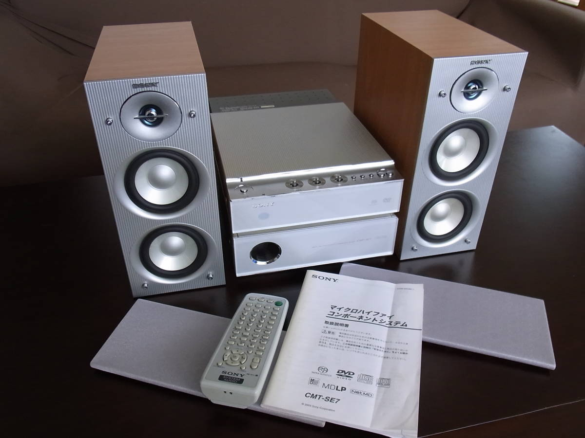 prompt decision equipped sony cmt se7 dvd cd md mini component 2003 year made real yahoo auction salling prompt decision equipped sony cmt se7