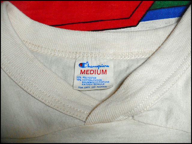 ★3列染み込みプリント★Made in USA製アメリカ製ChampionチャンピオンビンテージカレッジフットボールTシャツ80s80年代MトリコタグHARVARD_画像7