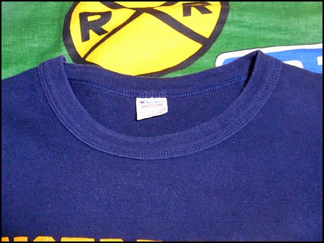 ★コンディション良好な1枚★Made in USA製アメリカ製ChampionチャンピオンビンテージナンバリングカレッジTシャツ80s80年代トリコタグ紺黄_画像4