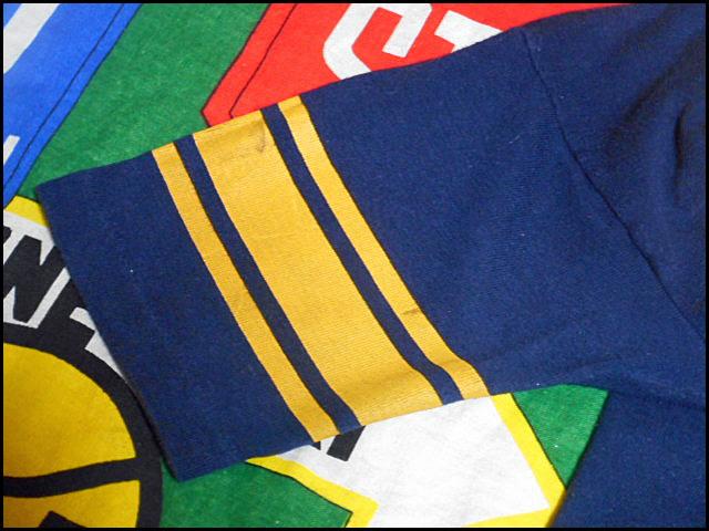 ★コンディション良好な1枚★Made in USA製アメリカ製ChampionチャンピオンビンテージナンバリングカレッジTシャツ80s80年代トリコタグ紺黄_画像5