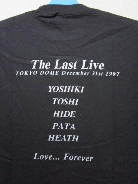 レア!1997年 X JAPAN THE LAST LIVE Tシャツ(1997年12月31日東京ドームライブYOSHIKI TOSHI HIDE PATA HEATH)_画像4