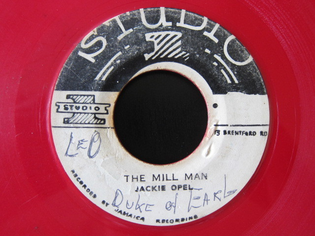JACKIE OPEL / THE MILL MAN / DON'T LET ME DIE (STUDIO 1) Red color vinyl, rare!