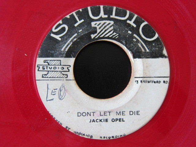 JACKIE OPEL / THE MILL MAN / DON'T LET ME DIE (STUDIO 1) Red color vinyl, rare!_画像2
