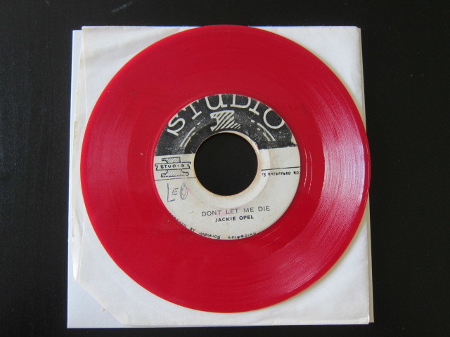 JACKIE OPEL / THE MILL MAN / DON'T LET ME DIE (STUDIO 1) Red color vinyl, rare!_画像3