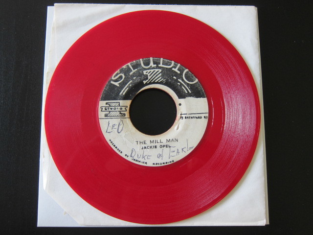 JACKIE OPEL / THE MILL MAN / DON'T LET ME DIE (STUDIO 1) Red color vinyl, rare!_画像4