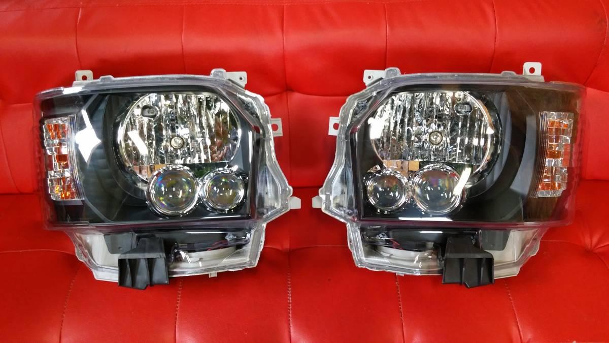 1000円 スタート【お買い得品】200系 ハイエース 4型 オプション タイプ LED ヘッド ライト インナーブラック 左右 ハロゲン車用