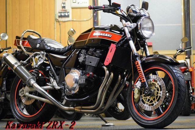 Kawasaki ZRX-2 ZR400E 予備車検渡し エボニー WR'Sフルエキ ブレンボキャリパー OHLINS 川口タックロールシート レスポンス抜群 E/G絶好調