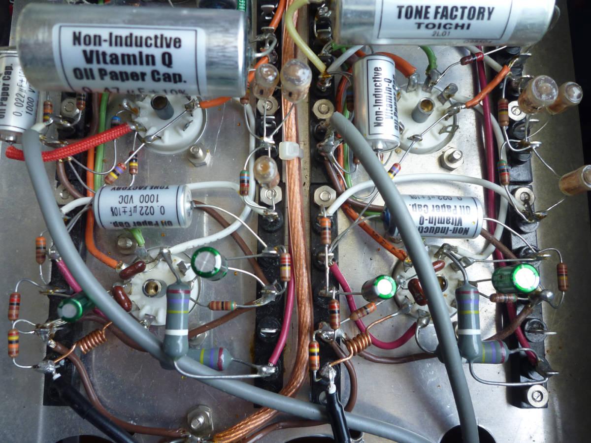 自作真空管プリアンプ(EQ回路内蔵)フロントパネルは彫金文字入り 整備・調整・測定済の中古品_画像8