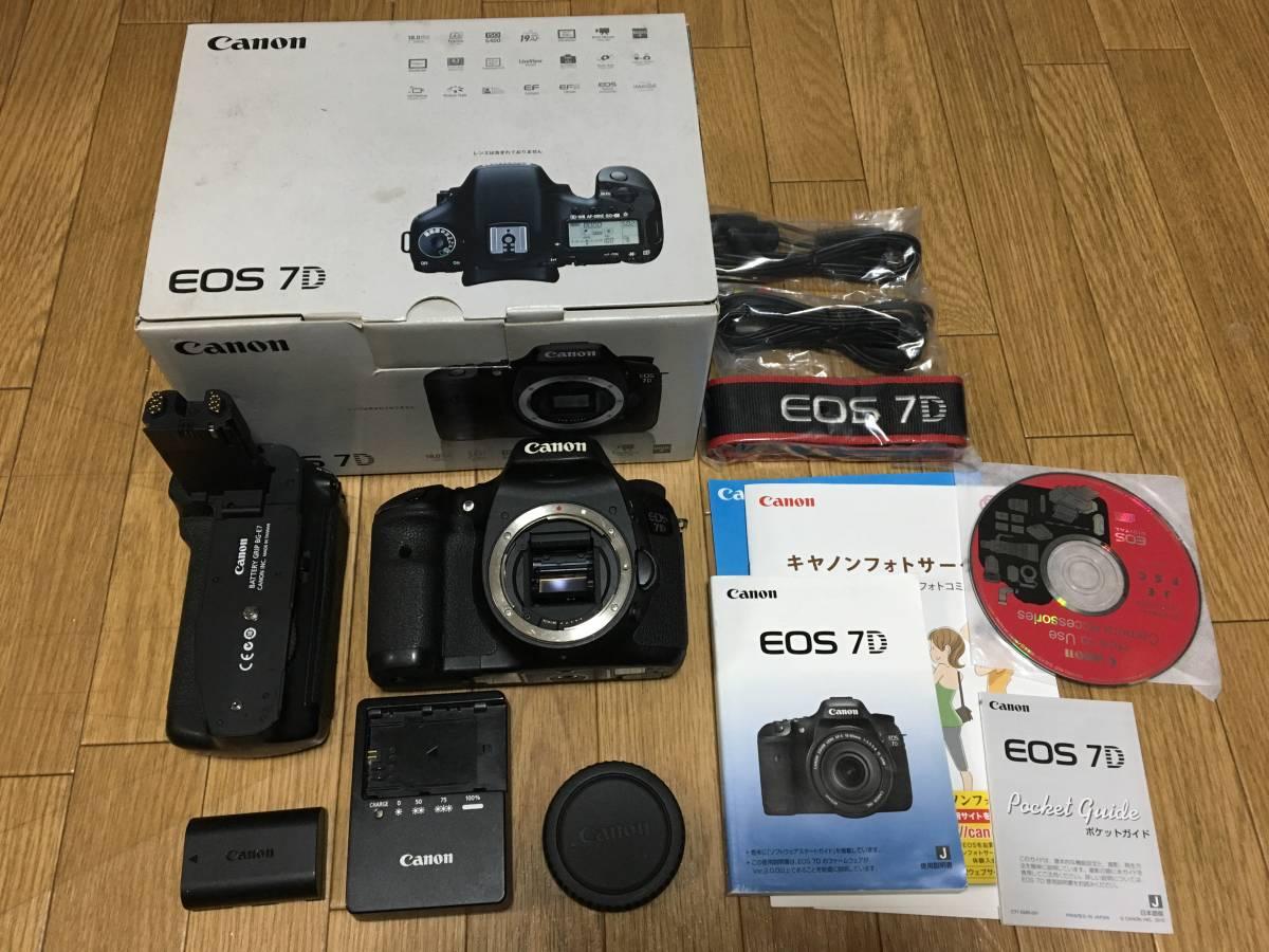 Canon キヤノン EOS 7D +キヤノン純正バッテリーグリップ付きです。