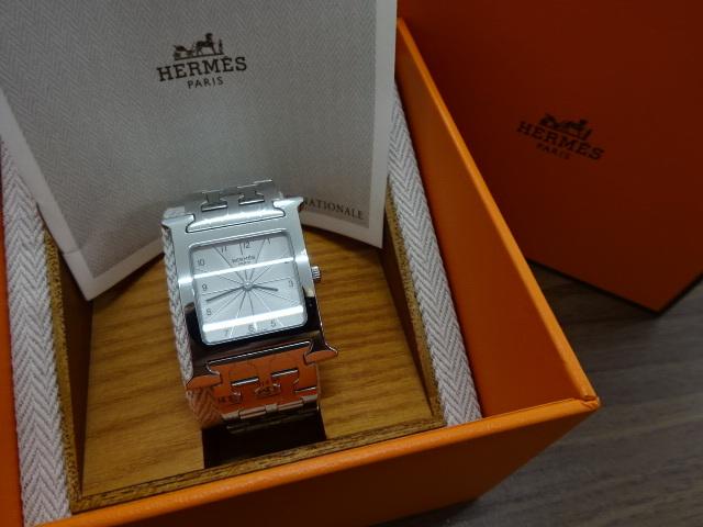1円~HERMES エルメス HH1.510 Hウォッチ 腕時計 中古美品 電池切れ