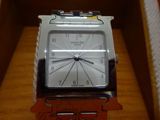 1円~HERMES エルメス HH1.510 Hウォッチ 腕時計 中古美品 電池切れ_画像2