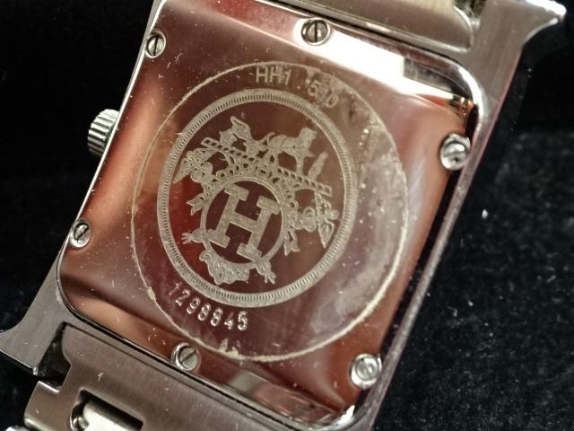1円~HERMES エルメス HH1.510 Hウォッチ 腕時計 中古美品 電池切れ_画像5