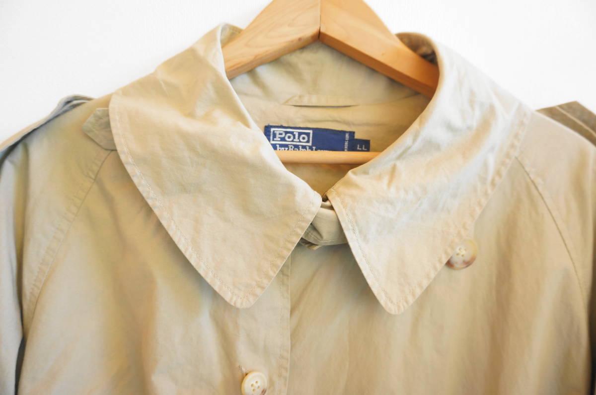 ポロ ラルフローレン Polo Ralph Lauren コート トレンチコート (ベージュ) size LL 美品(替えボタン付) 491887_画像4