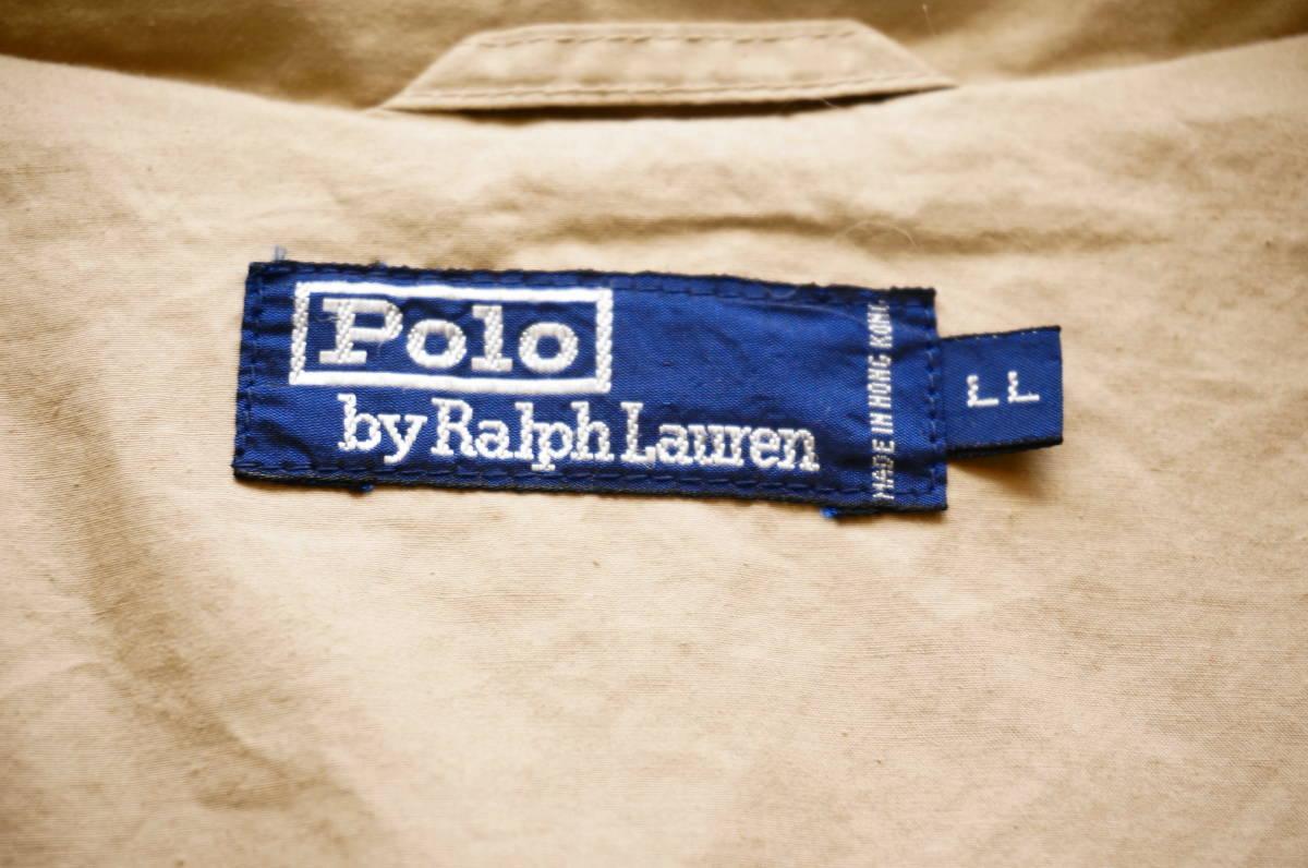 ポロ ラルフローレン Polo Ralph Lauren コート トレンチコート (ベージュ) size LL 美品(替えボタン付) 491887_画像10