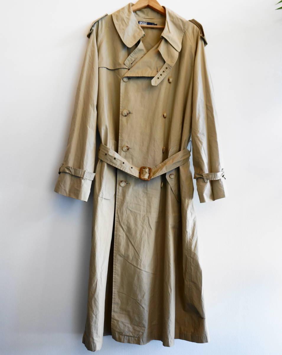 ポロ ラルフローレン Polo Ralph Lauren コート トレンチコート (ベージュ) size LL 美品(替えボタン付) 491887