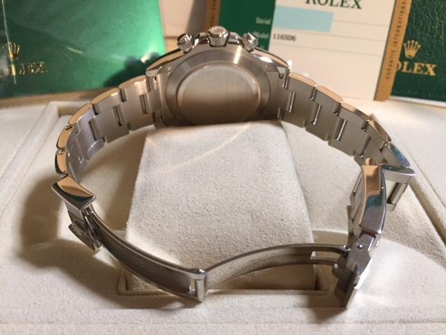 国内正規品・試着のみのデイトナ・アイスブルー116506LN バッケツトダイヤ付き 新品未使用品です!!_画像5