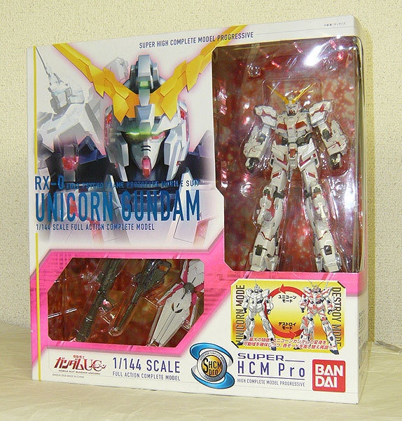 unopened * free shipping ] SUPER HCM-Pro RX-0 Unicorn Gundam : Real