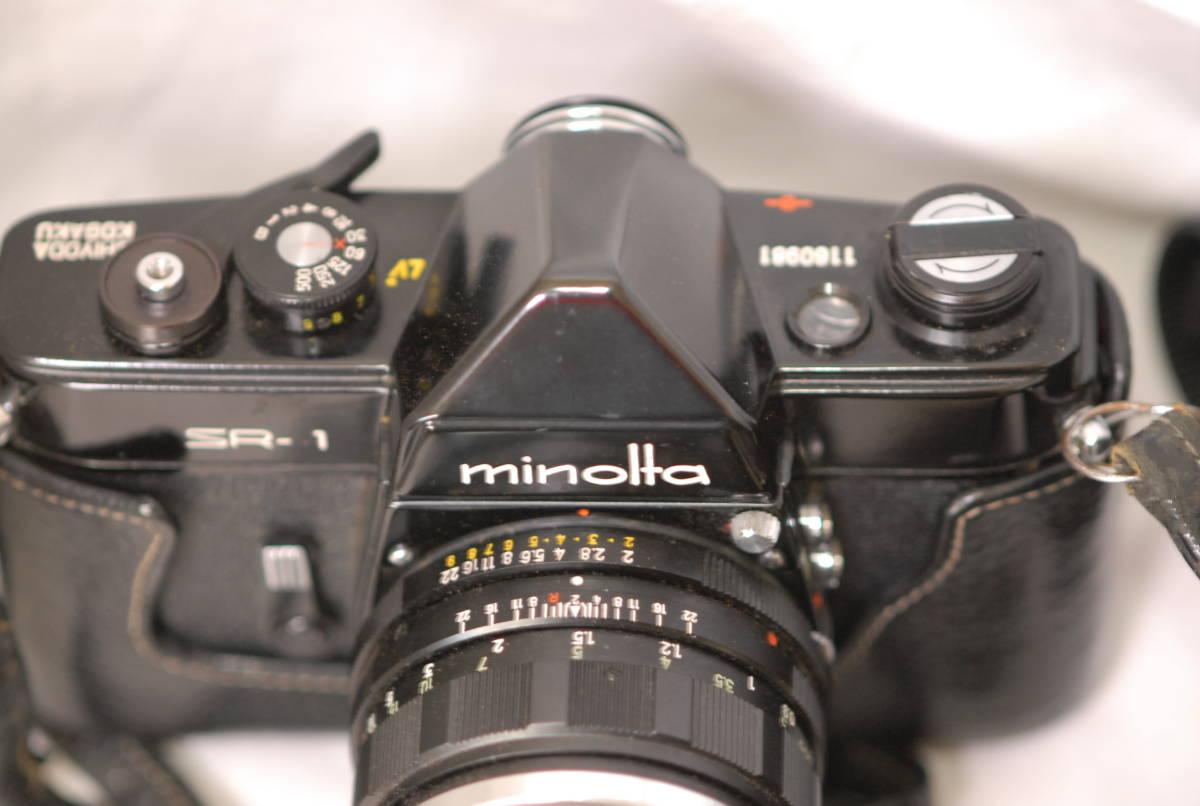 Minolta ミノルタ SR-1 レンズ Minolta auto rokkor-pf 1:2 f=55mm 保護フィルター2枚フード付き ケース付き ブラック_画像6