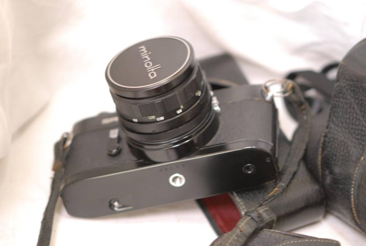 Minolta ミノルタ SR-1 レンズ Minolta auto rokkor-pf 1:2 f=55mm 保護フィルター2枚フード付き ケース付き ブラック_画像7